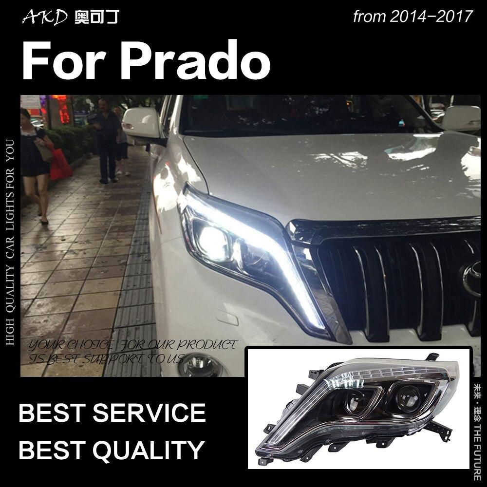 Style de voiture AKD pour Toyota Prado LC150 phare LED 2013-2017 Prado LED DRL Hid phare ange Eye Bi accessoires de faisceau xénon