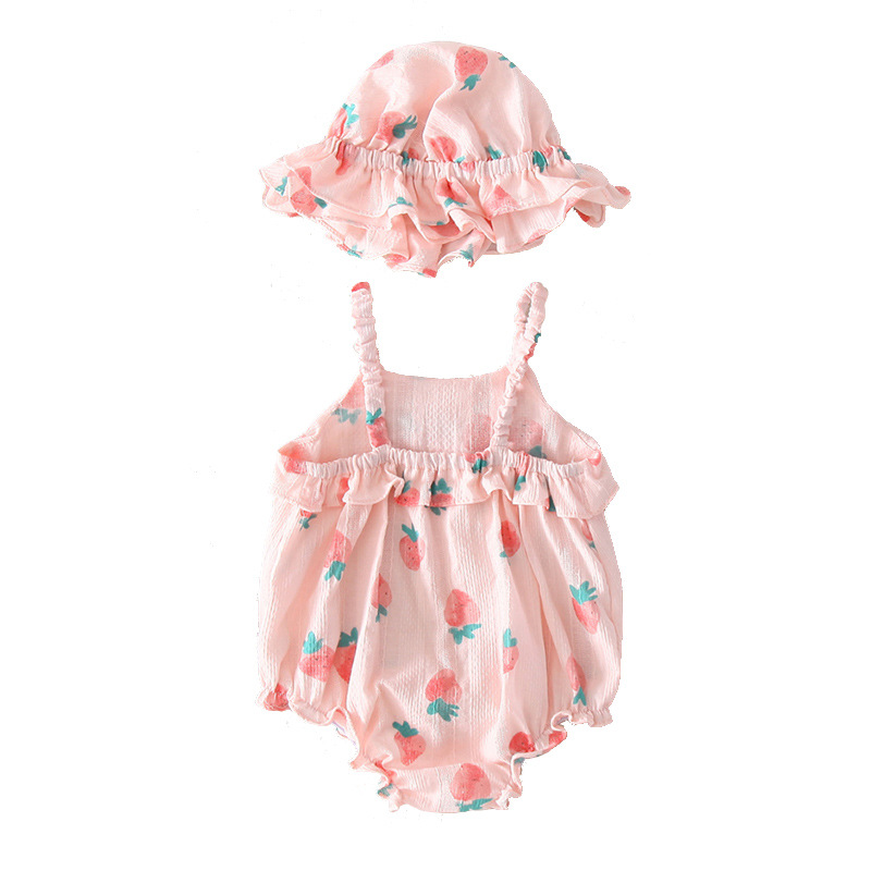Baby Girl Sleeveless Bodysuit 2019 Princess Style Print Cute Girl Baby Clothes Children Pink Bodysuit Baby Girl Clothes Jumpsuit