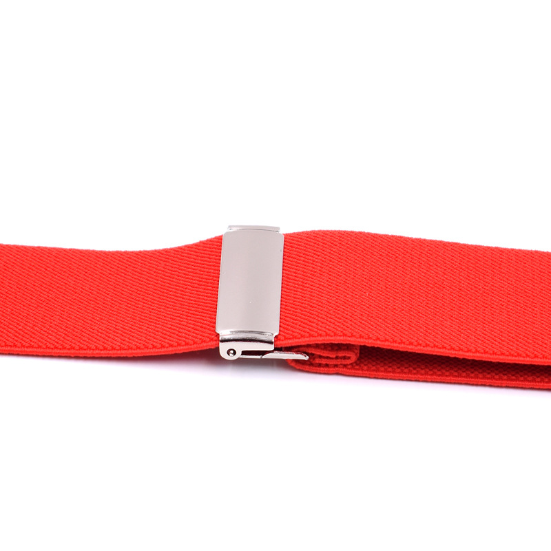 High Quality 9 Color 4 Clip 3 5cm Width Auspenders Women Mens Brace PU Leather Rivet Clip For Skirt Suspenders Male Holiday Gift in Men 39 s Suspenders from Apparel Accessories