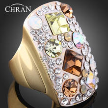 Chran New Arrival Amazing Colorful Vintage Retro Ring For Women Antique With Shinning Crystal Top Quality