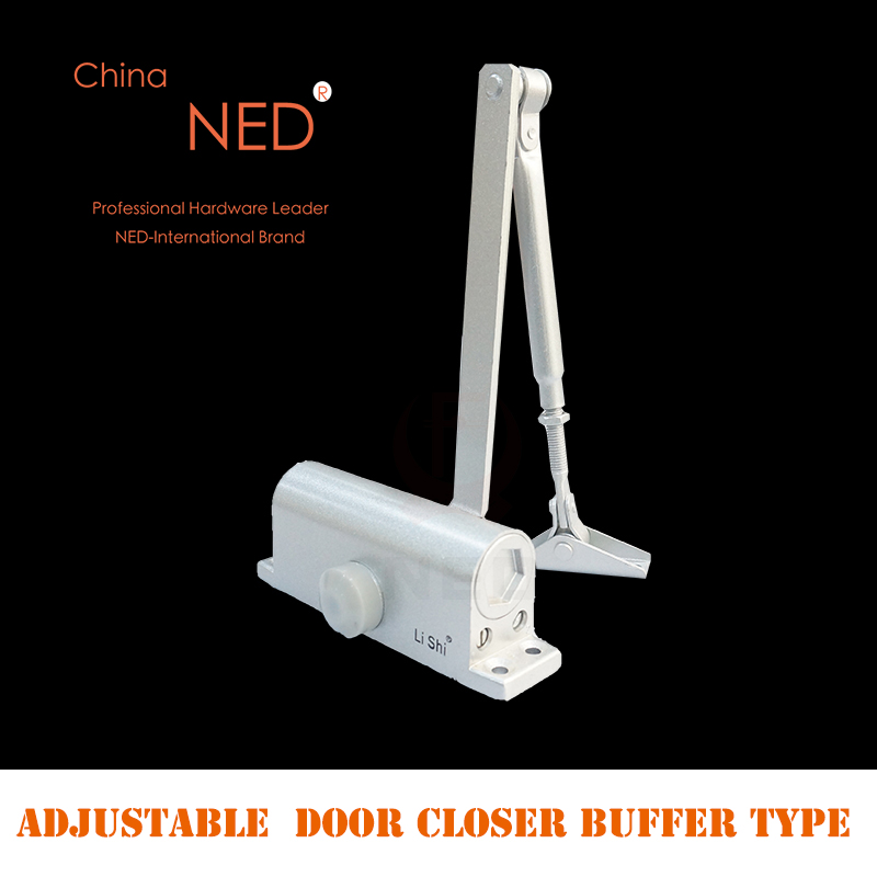 NED Household Speed Control Type Adjustable Door Closer Fire Channel Damper Buffer Type Automatic Door Closers Bear 65-85KG hamlet ned r