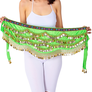 Image 3 - Sexy Festival Hip Scarf Gold Coins Women Belly Dancing Performance Hip Skirt Oriental/Indian Belly Dance Coin Belt