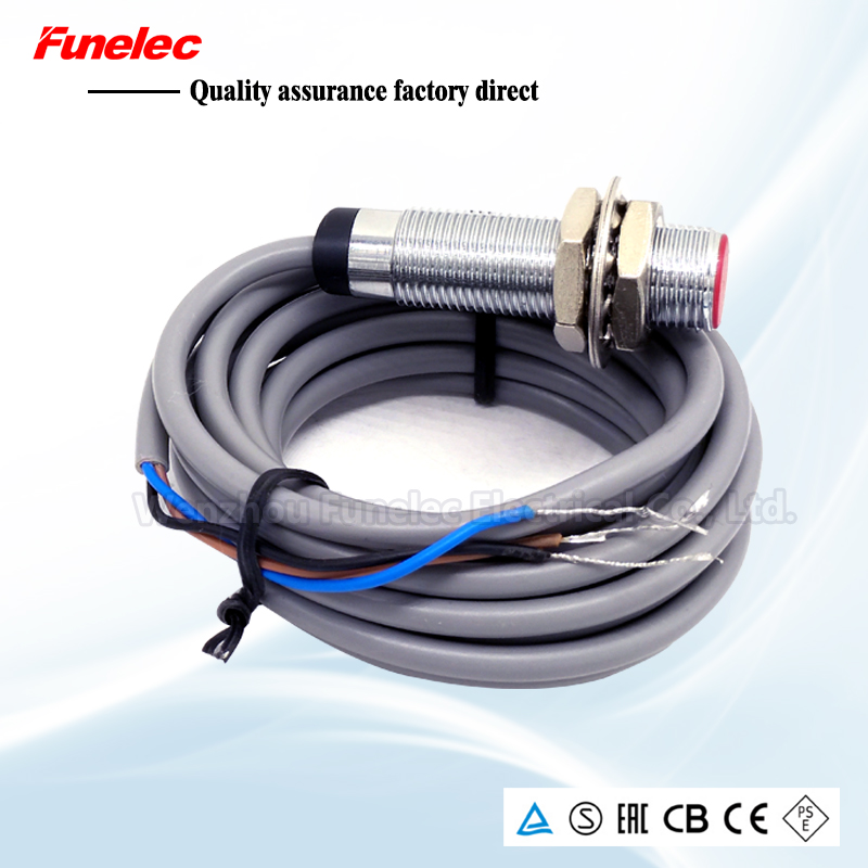 Hall Sensor Magnetic Material Sensor Switch NPN PNP NO NC With Magnet And Mounting Bracket Detection Distance 10mm