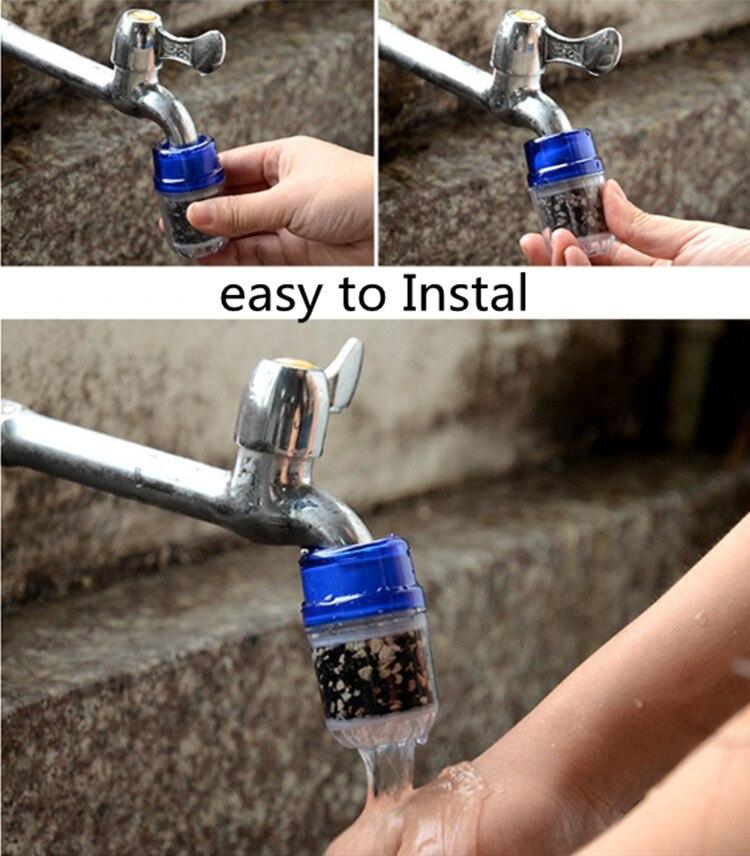 Кухонный кран водопроводный фильтр для воды с активированным углем бытовой очиститель воды примесей тяжелые ржавчины металлы очиститель фильтрации воды
