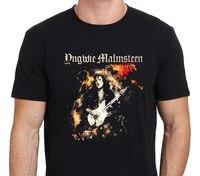 Rock Heavy Metal Style Yngwie Malmsteen World On Fire T SHIRT Men S Black Plus Size