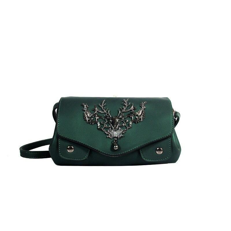Deer Designer Punk Style Retro Handbag Luxury Brand Lady Crossbody Bags Genuine Leather Handbag Women Messenger Shoulder Bag Sac стоимость