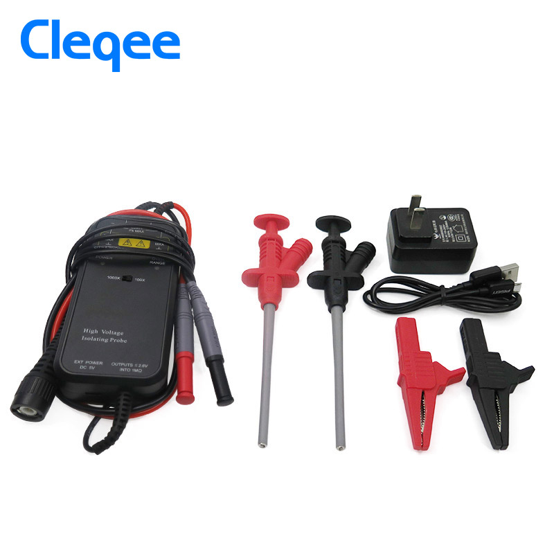 Cleqee YP5105 50MHz 1300V High Voltage Differential Probe kit Isolation Probe Suitable Tektronix цена