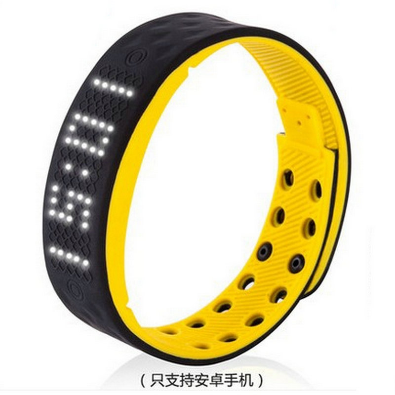 Free shipping Waterproof font b smart b font vibration alarm clock sports hand ring led electronic