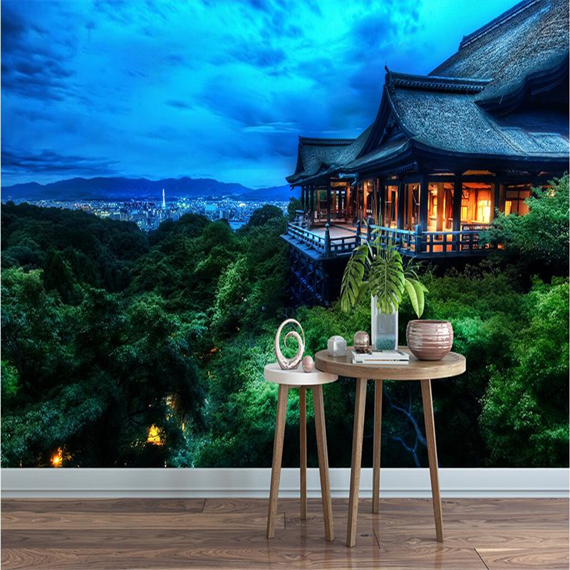 Beibehang Customize Any Fresco Wallpaper Forest Japanese