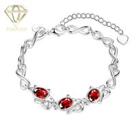 Hamsa Bracelet New Fashion Silver Plated Jewelry Creative Charm Geometric 3 Red Resin Lovely Cat Bracelets