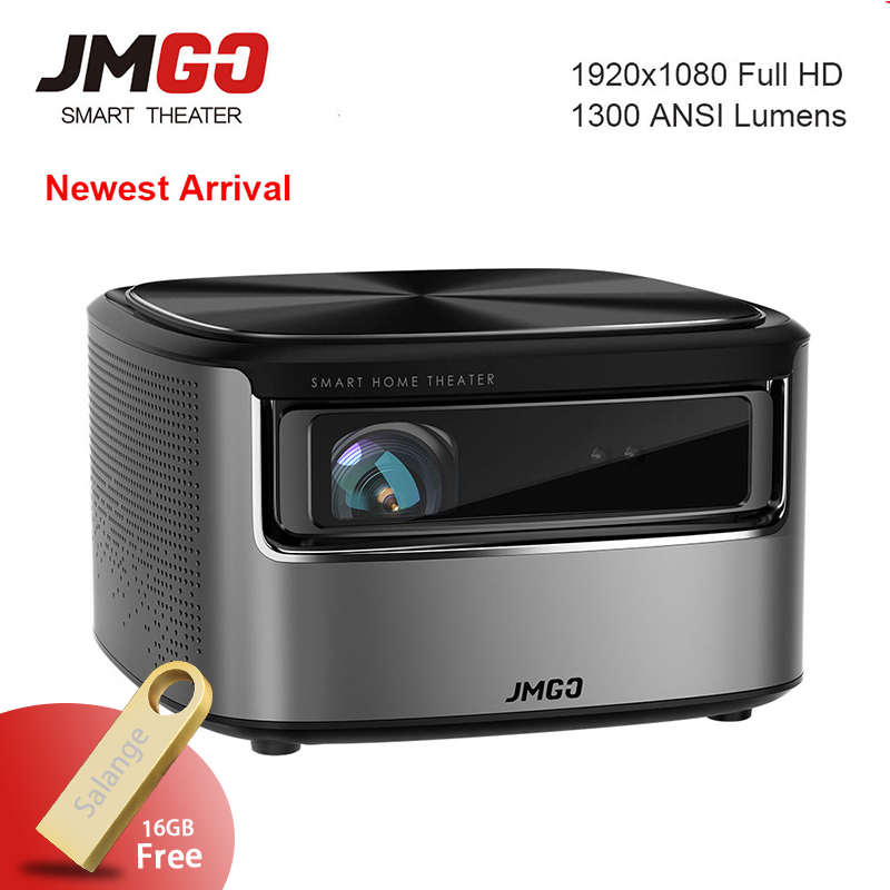 JmGO N7 Full HD 1080 P Projecteur, Android OS, 1300 ANSI Lumens, 1920*1080 Bluetooth 2G/16G Soutien 4 K Vidéo Wifi 3D Projecteur Beamer
