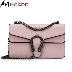 Fashion Women Crocodile pattern Leather Chain Messenger Bag Handbag Ladies Shoulder Crossbody Bags Woman Purse Bolsos Mujer Bols