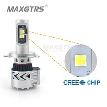 2x H4 (9003/HB2) CREE Chip XHP50 72W 12000LM 6500K Car Led Headlight Hi/Lo Beam Daytime Running Lights Replacement Lamp Bulb DRL
