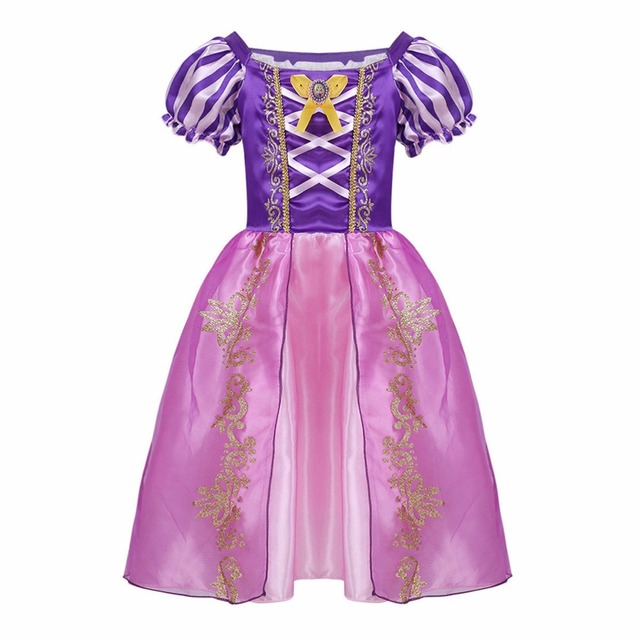 1aee8ecccd4a Classic Girls Rapunzel Dresses Children Princess Dresses Tangled Rapunzel  Party Halloween Costume Brand Kids Dress Cute