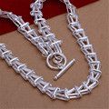 Fashion Jewelry 925 Silver Necklaces Chain For Mens Jewelry Tattoo Chokers Statement Long Chain Necklaces Wholesale N266