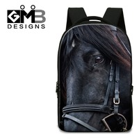 Horse Print School Backpacks With Computer Interlayer Laptop Back Pack For 14 Inch Boys Bookbags For