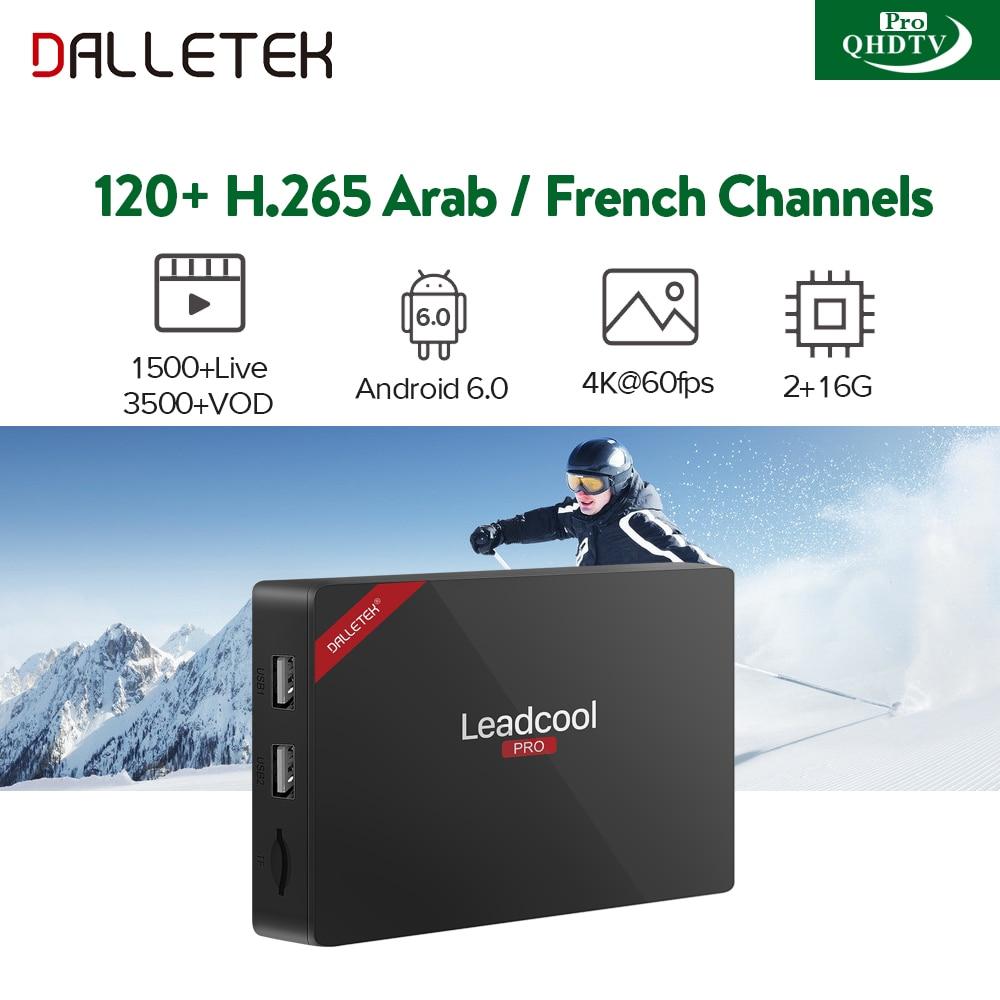 Arabic IPTV Box Leadcool Pro Android Smart TV Box S905X H265 IPTV Channels QHDTV Pro Subscription IPTV Europe French IPTV Box amazing arabic french iptv top box 3gb 32gb t95zplus android 6 0 smart tv box s912 qhdtv subscription europe italy iptv channels