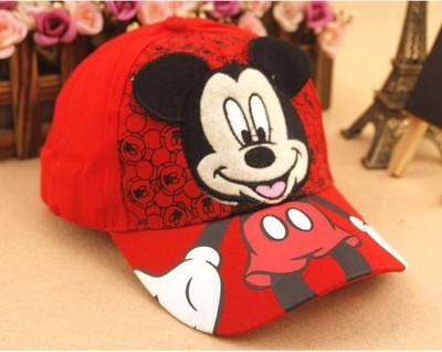 Children Cartoon Baseball Hat Mouse Mickey Kids Hat Boys and Girls Black White Adjustable Baseball Caps Outdoor Sunscreen Hat 1