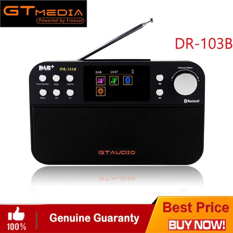 DR-103B GTMEDIA Portable numérique DAB + DAB FM Radio DAB RDS bandes d'onde récepteur BT 4.0 haut-parleur récepteur stéréo 2.4 pouces affichage