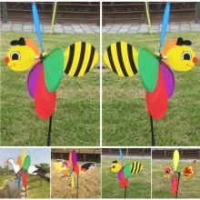 1Pc Cute 3D Large Animal Bee Windmill Wind Spinner Whirligig Yard Garden Decor Kids Toy