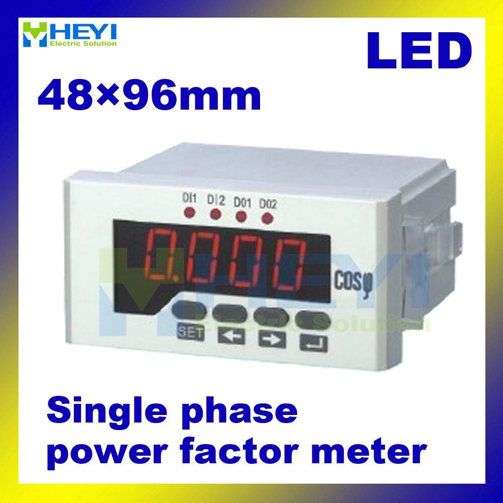 ФОТО Single phase COS meters 48*96 mm LED display digital power factor meters