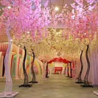 2018 Новое поступление свадебный реквизит дорога цитируемая симуляция вишни цветок с железной аркой рамка для вечеринки центральным украшен...