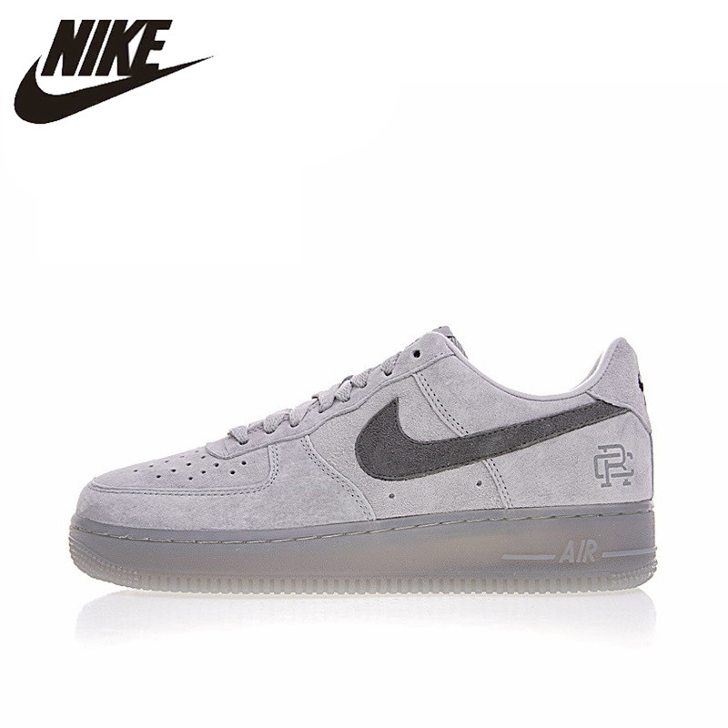 US $74.46 49% OFF|Original Authentic Nike Air Force 1 Low x Reigning Champ Men's Skateboarding Shoes Sport Outdoor Sneakers 2018 New Arrival in
