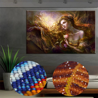 Posh Long Hair Beauty Round Dimaond Drill Painting 5D Special Diamond Embroidery Painting 3D DIY Mosaic