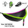 Outdoor Camping Survival Breathable Light Double Sleeping-hammock Swing Chair Parachute Rope Hammock Accessories Cloth In Door