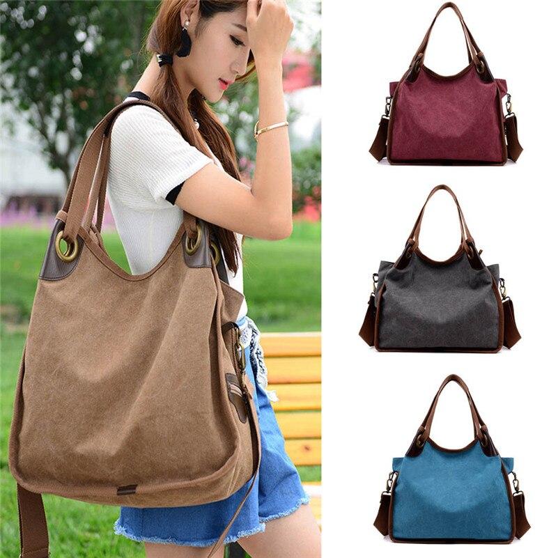 Women Handbags Patchwork Women Shoulder Bag Canvas Bag Tote Striped New Fashion a Main Femal Casual