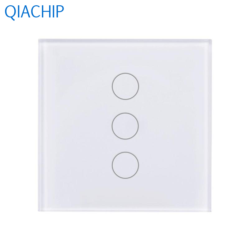 EU WiFi Switch 3 Gang Light Wall Switch APP Remote Control Switch Touch Tempered Glass Screen Durable and Safe Smart Voice us 1gang hotel tempered glass panel smart house wall light switch remote control switch touch control light switch led indicator
