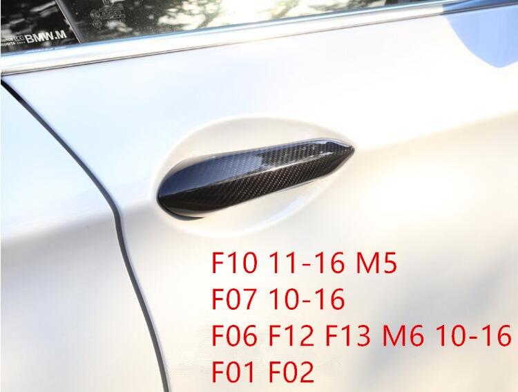 High Quality 100 Carbon Fiber Door Handle Cover Trim For BMW 5 GT 6 7 Series