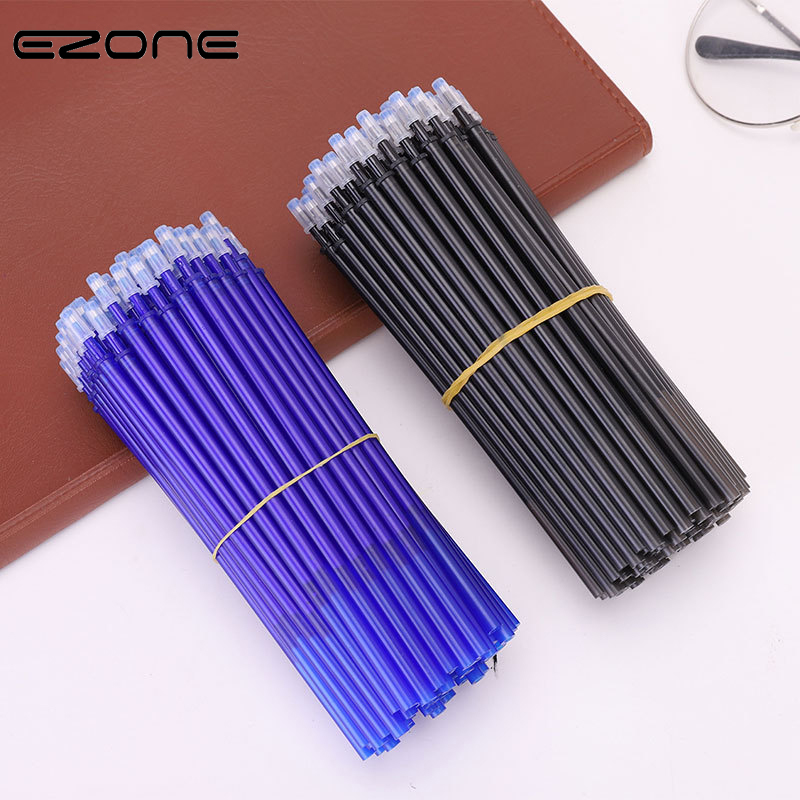 EZONE 20PCS Erasable Pen Refill 0.5mm Blue/Black Ink Rod Magic Erasable Pen Students Writing Pens Gift For Students Stationery