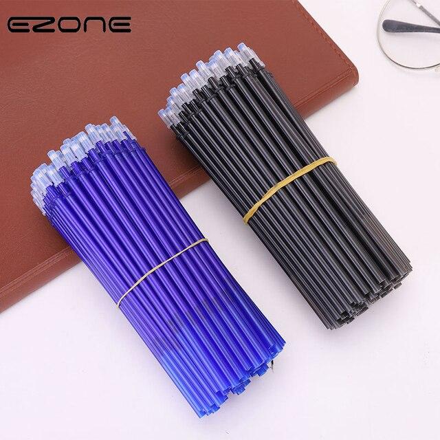 EZONE 20PCS Erasable Pen Refill 0 5mm Blue Black Ink Rod Magic Erasable Pen Students Writing