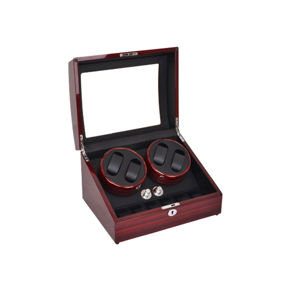 Watch Winder, LT Wooden Automatic Rotation 4 + 6 Watch Winder Storage - Tilbehør klokker - Bilde 5