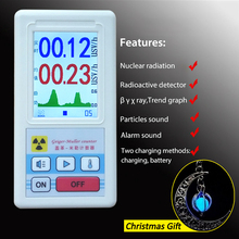 лучшая цена Dosimeter Counter Geiger Display Color Screen Nuclear Radiation Detector Personal Dosimeter X-ray Beta Gamma Detector