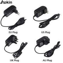 5 V/3A Raspberry Pi 3 Model B+ плюс Мощность адаптер ON/OFF переключатель питания зарядное устройство с выходом постоянного тока/адаптер переменного тока БП Источники питания