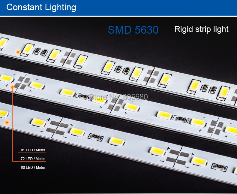 Rigid Light Bar >> Us 250 0 Free Shipping 1m Non Waterproof Smd 5630 Led Light Bar 72led M Rigid Led Strip For Desk Jewelry Lamp Bar Rigid Light In Led Strips