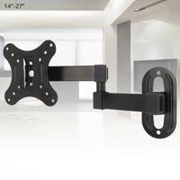 10 кг Регулируемый 14 - 27 дюймов ТВ настенный кронштейн плоская панель ТВ рамка поддержка 15 градусов для ЖК-дисплея LED монитор плоская сковород...