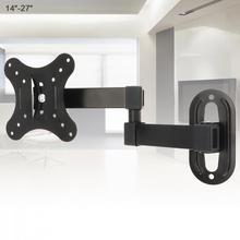 10KG Adjustable 14 - 27 Inch TV Wall Mount Bracket Flat Panel TV Frame Support 15 Degrees for LCD LED Monitor Flat Pan