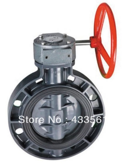 Quality Fluid Pressure Controlling for Water supplying PVC Butterfly Valve size 2 with Round Handle for irrigation etc