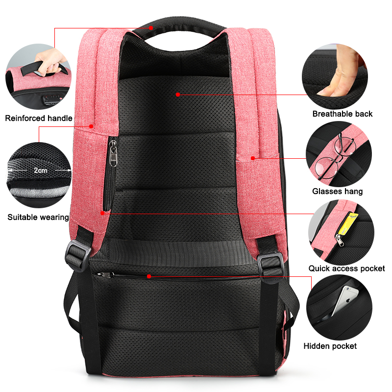 Tigernu Women Anti Theft Tsa Lock Female Laptop Backpack Usb Charge School Bag For Teenager Girls Feminine Backpacks Bagpack #4