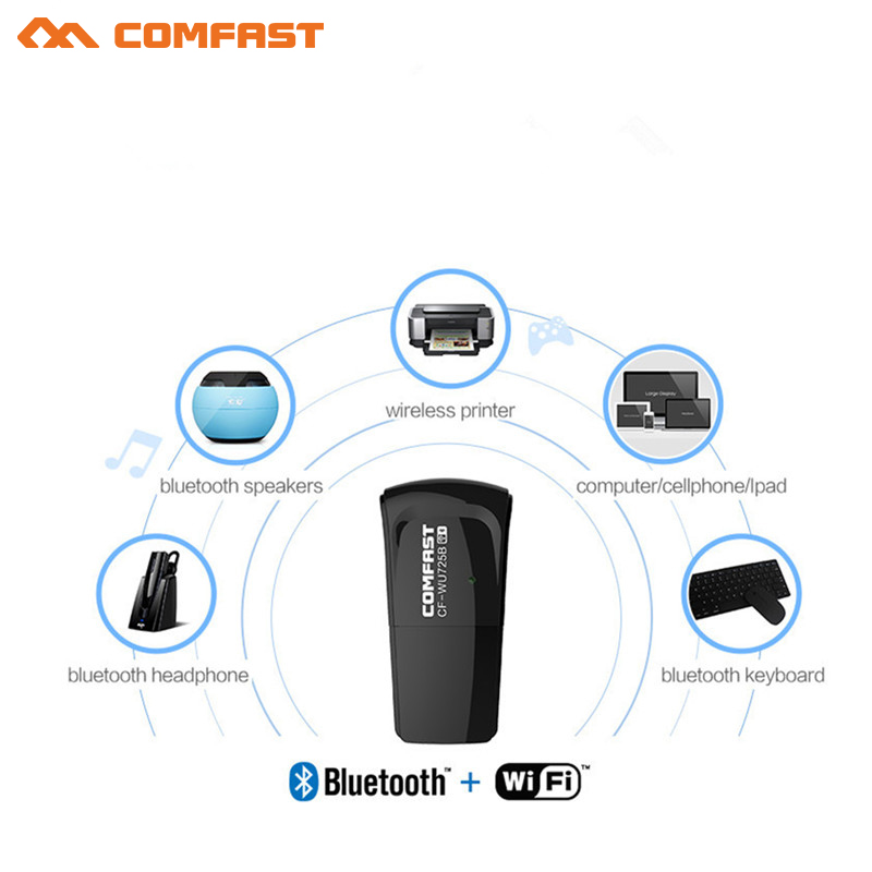 Bluetooth 4.0 Usb Wifi Receiver/transmitter COMFAST Wi-fi Network Card 150mbps Wireless Adapter Wireless Dongle 2.4G Lan Adapter