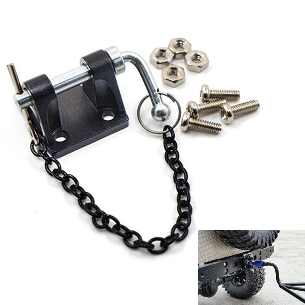 1/10 Hitch Tow Shackles Trailer Hook Set Metal Climbing Rope Chain Spare Parts RC Crawler Model Accessories Rescue Simulation