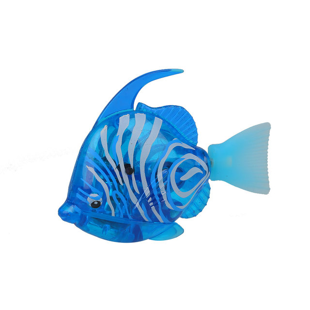 1pcs 2pcs Electric Flash Robot Fish Aquarium Decoration Aquario Fish