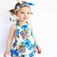 Infant Baby Romper Girls Floral Print Ruffles Jumpsuit Outfits Summer Clothes