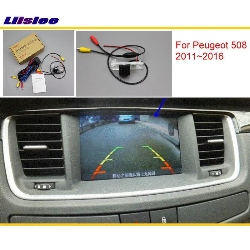 Задний вид автомобиля Камера для Peugeot 508 2011 ~ 2016 Совместимость с оригинальным качеством Экран автомобиля Резервное копирование CAM комплекты ...