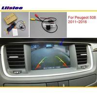Liislee For Peugeot 508 2011~2016 Original Screen Compatible / Car Rear View Camera / Back Up Reverse Camera Sets