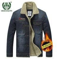 AFS JEEP Men S Winter Thicken Fashion Cowboy Jacket Warm Wool Black Coat Man Casual Brand