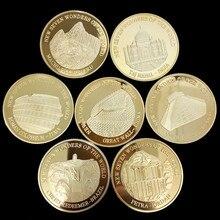 Позолоченный памятный медальон семи чудес Коллекционная художественная монета подарок Лаки Монета Металл 2007